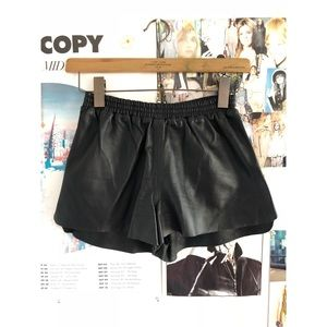H&M leather boxer shorts